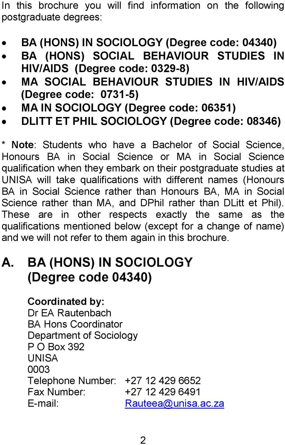 Unisa thesis template