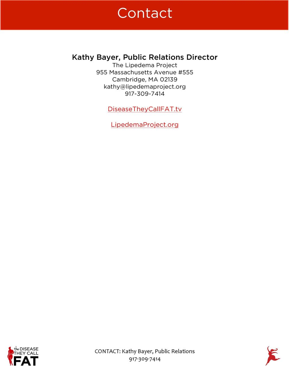 CONTACT: Kathy Bayer, Public Relations - PDF