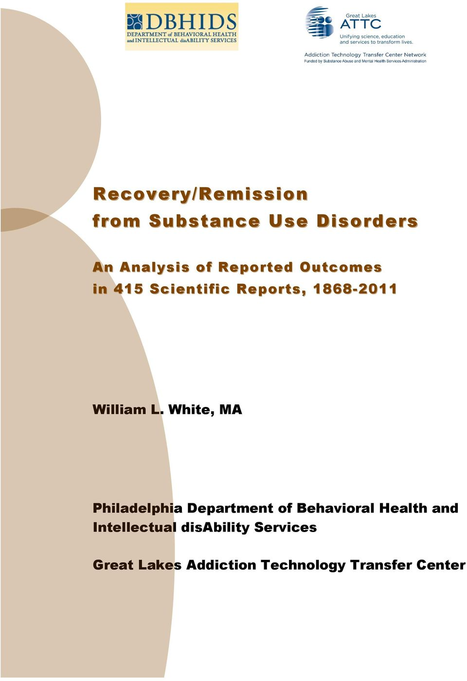 White, MA Philadelphia Department of Behavioral Health and