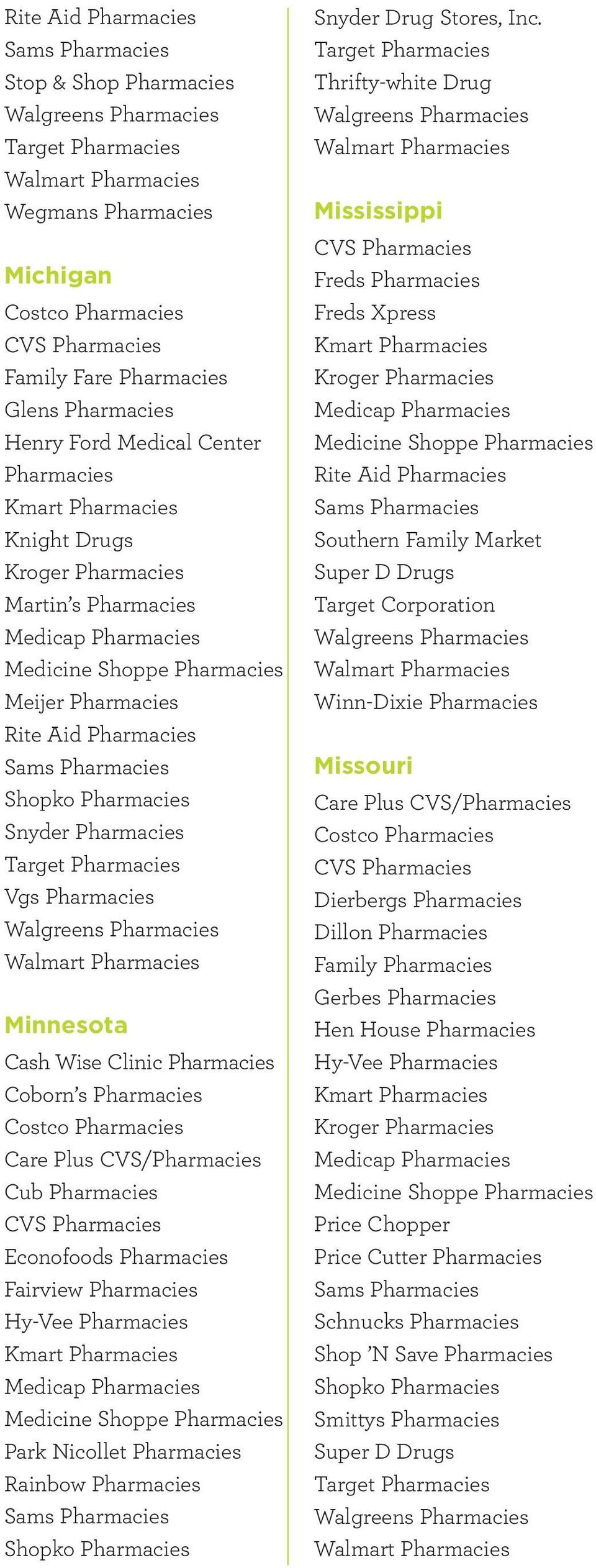 Thrifty-white Drug Mississippi Freds Freds Xpress Southern Family Market Super D Drugs Target Corporation Winn-Dixie
