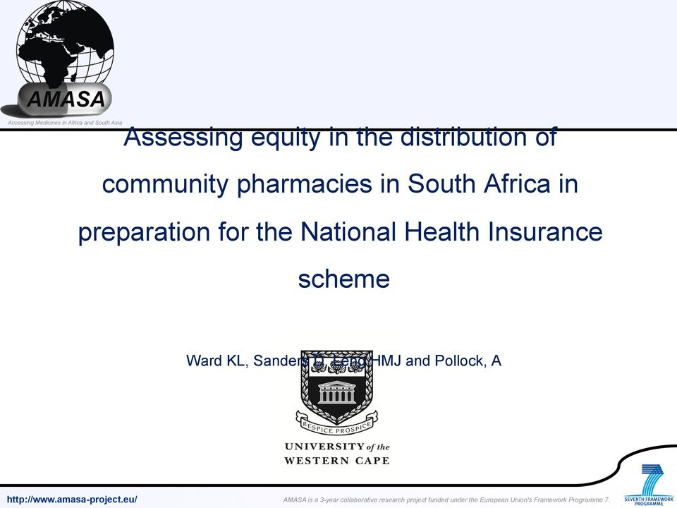 preparation for the National Health
