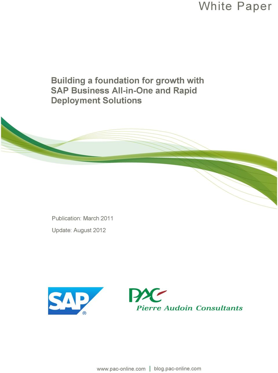 Deployment Publication: March 2011 Update: