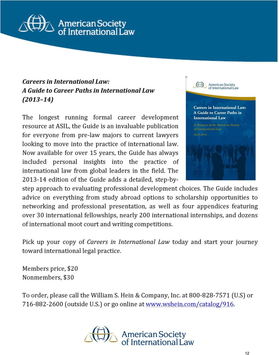 Now available for over 15 years, the Guide has always included personal insights into the practice of international law from global leaders in the field.