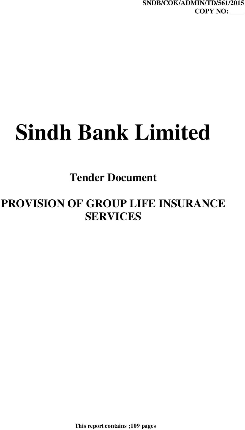 PROVISION OF GROUP LIF INSURANC