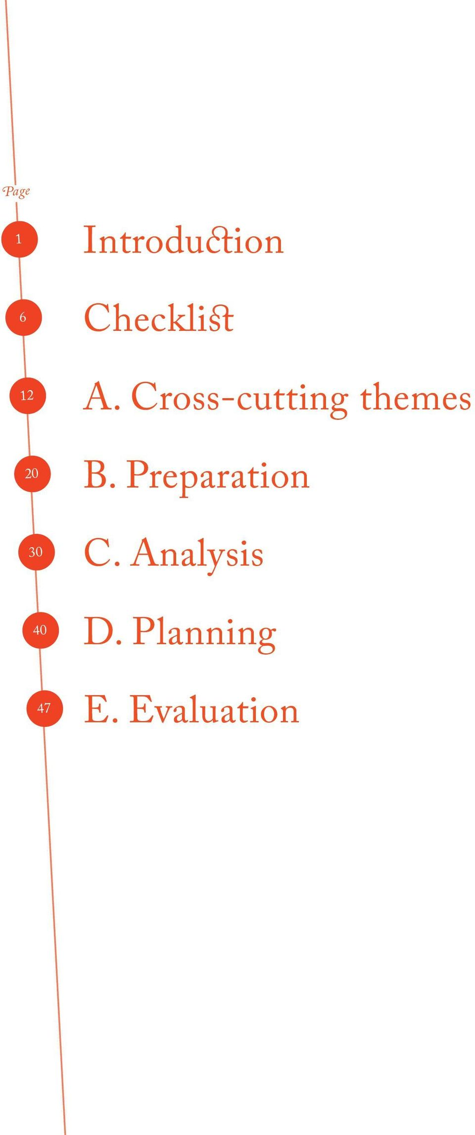 Cross-cutting themes B.