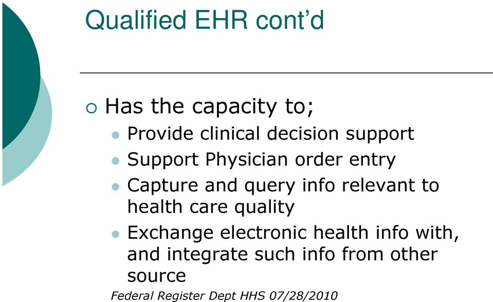 to health care quality Exchange electronic health info with, and