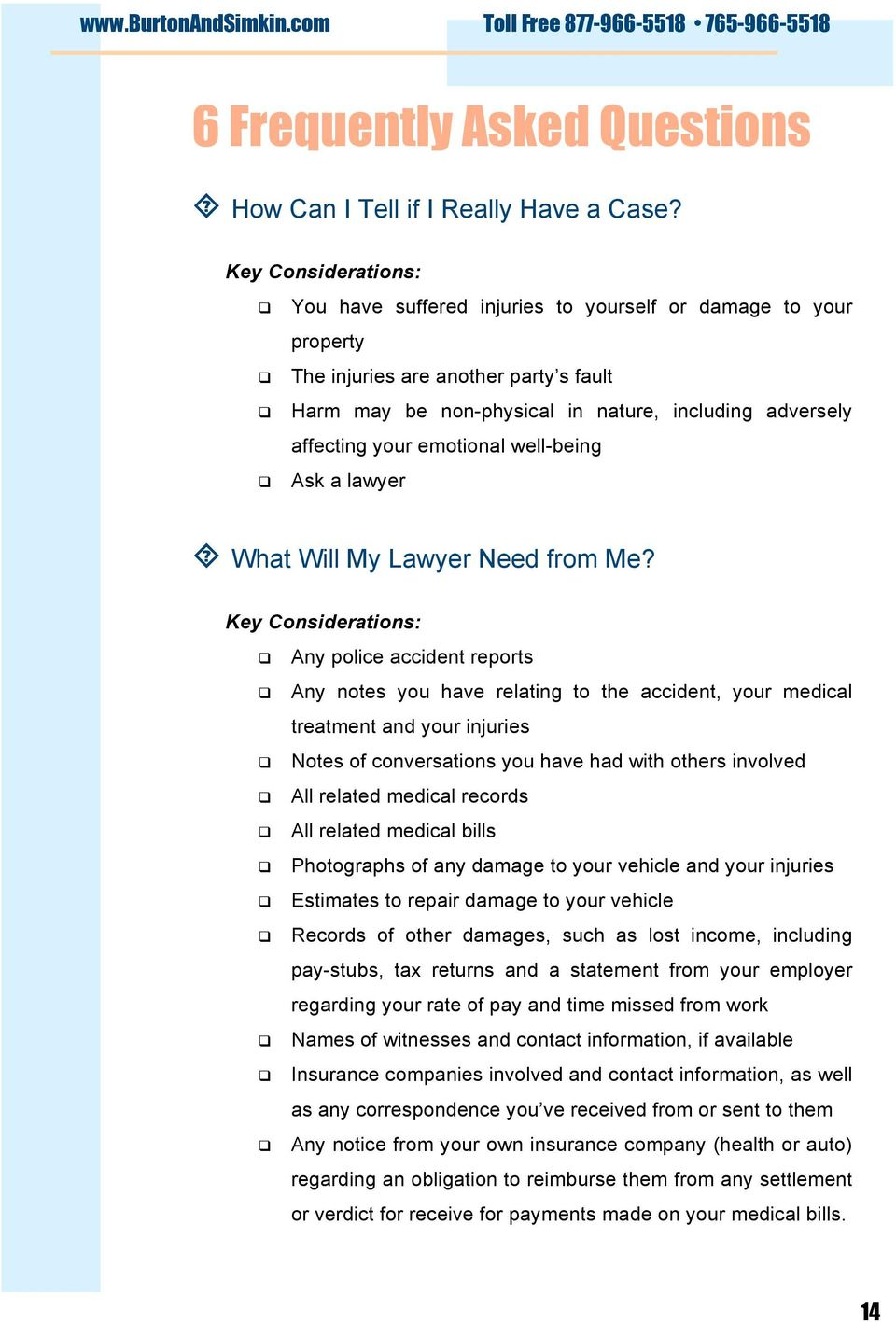 emotional well-being Ask a lawyer What Will My Lawyer Need from Me?