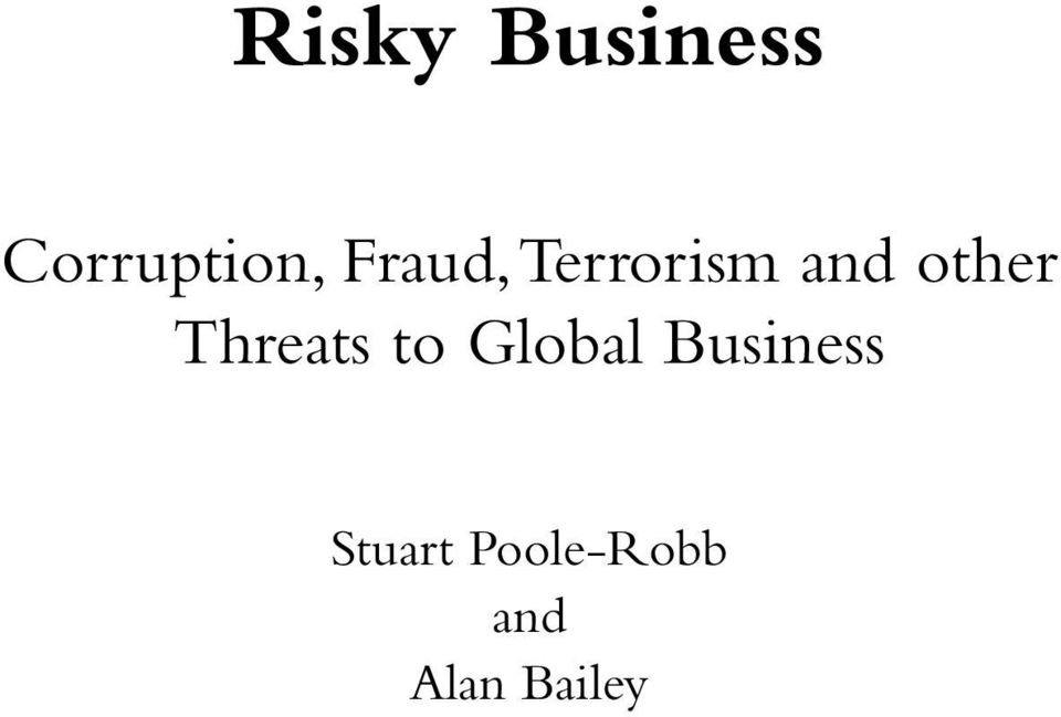 Threats to Global Business