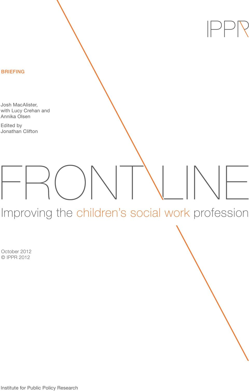 Improving the children s social work profession