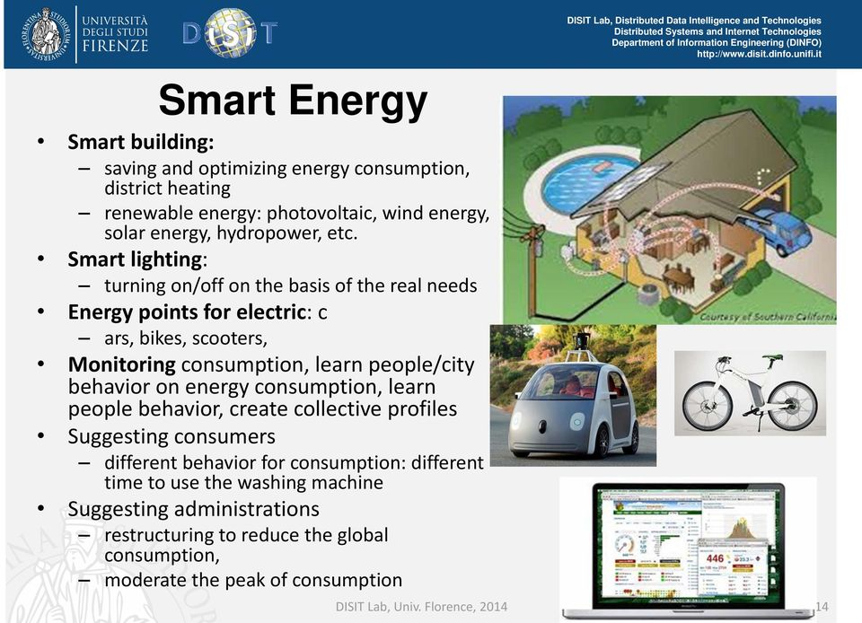 behavior on energy consumption, learn people behavior, create collective profiles Suggesting consumers different behavior for consumption: different time to use