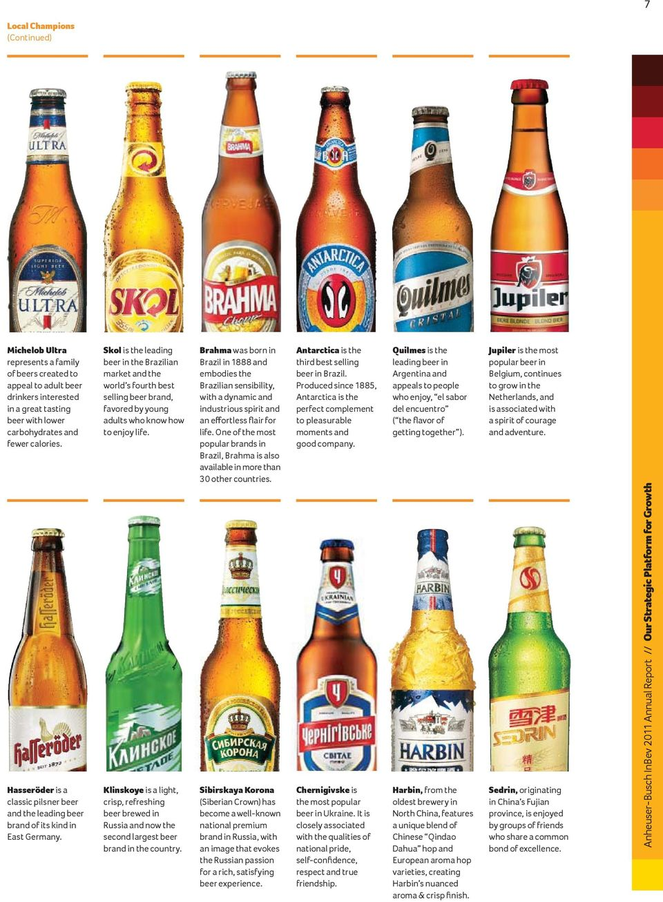 Skol is the leading beer in the Brazilian market and the world s fourth best selling beer brand, favored by young adults who know how to enjoy life.