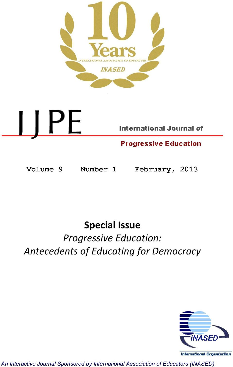 for Democracy An Interactive Journal Sponsored