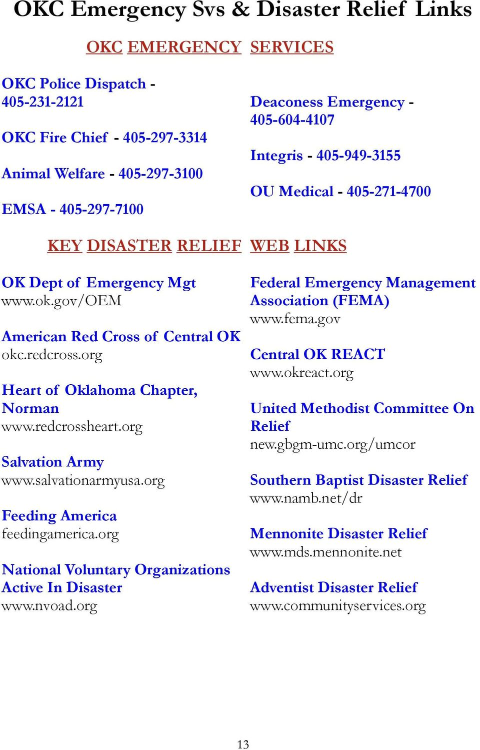 org Feeding America feedingamerica.org National Voluntary Organizations Active In Disaster www.nvoad.