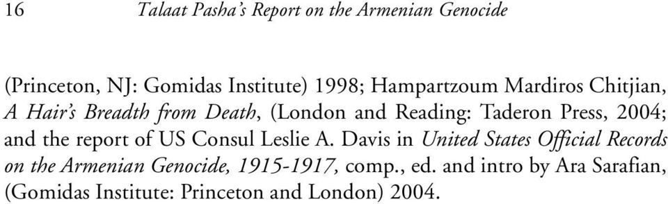 2004; and the report of US Consul Leslie A.