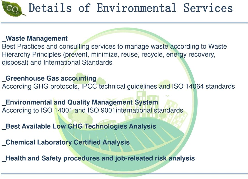 technical guidelines and ISO 14064 standards _Environmental and Quality Management System According to ISO 14001 and ISO 9001international