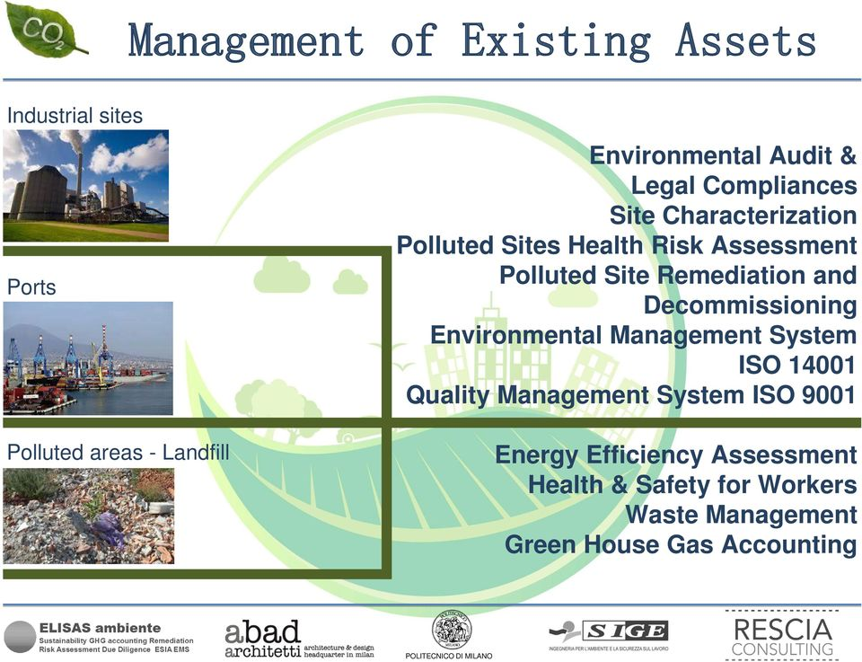 Remediation and Decommissioning Environmental Management System ISO 14001 Quality Management System