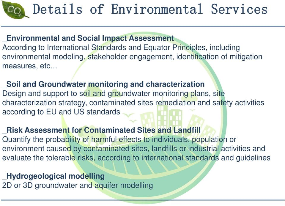 contaminated sites remediation and safety activities according to EU and US standards _Risk Assessment for Contaminated Sites and Landfill Quantify the probability of harmful effects to individuals,