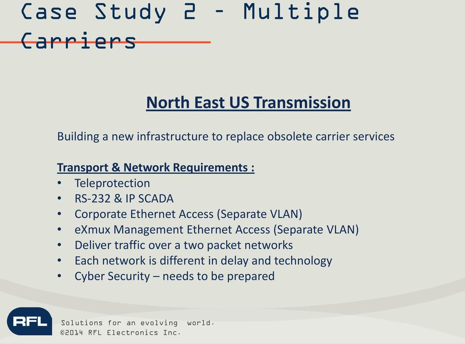 Corporate Ethernet Access (Separate VLAN) exmux Management Ethernet Access (Separate VLAN) Deliver