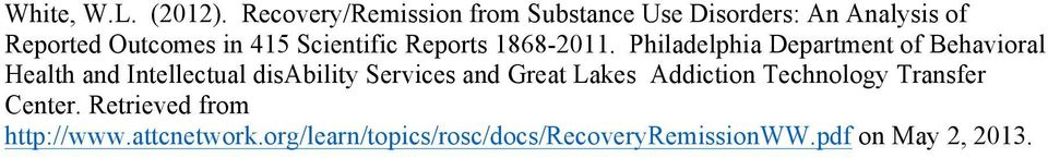 Scientific Reports 1868-2011.