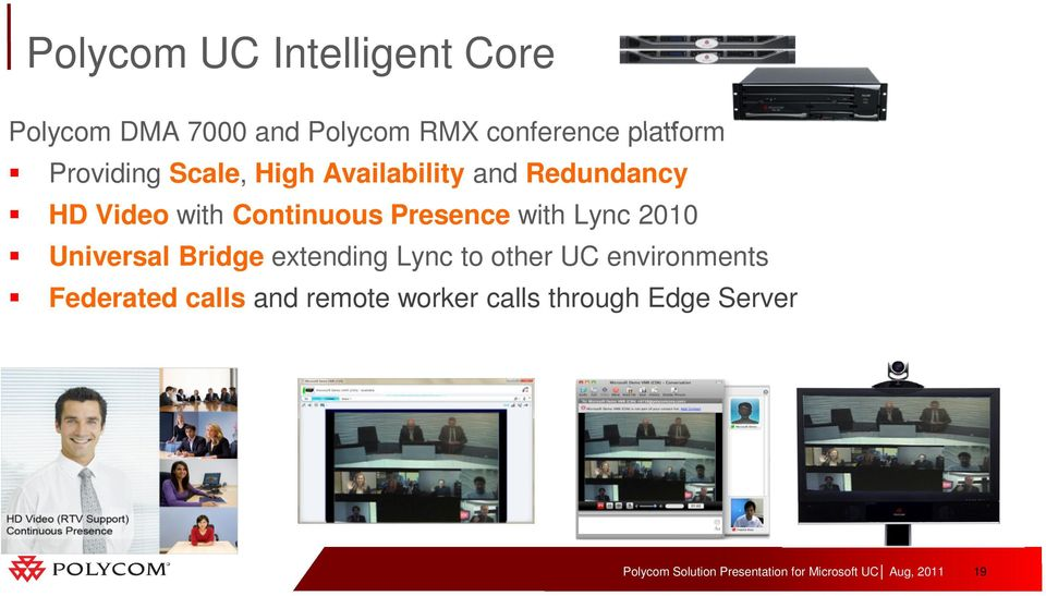 Continuous Presence with Lync 2010 Universal Bridge extending Lync to