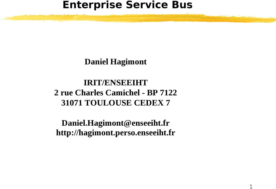7122 31071 TOULOUSE CEDEX 7 Daniel.