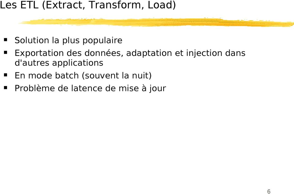 injection dans d'autres applications En mode batch