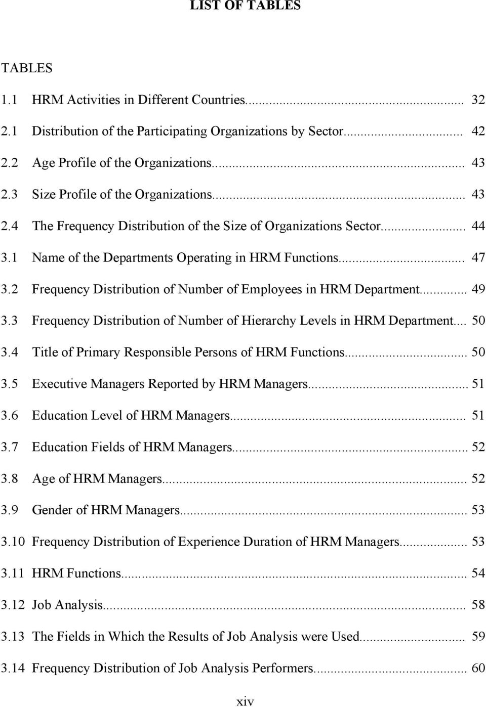 2 Frequency Distribution of Number of Employees in HRM Department... 49 3.3 Frequency Distribution of Number of Hierarchy Levels in HRM Department... 50 3.