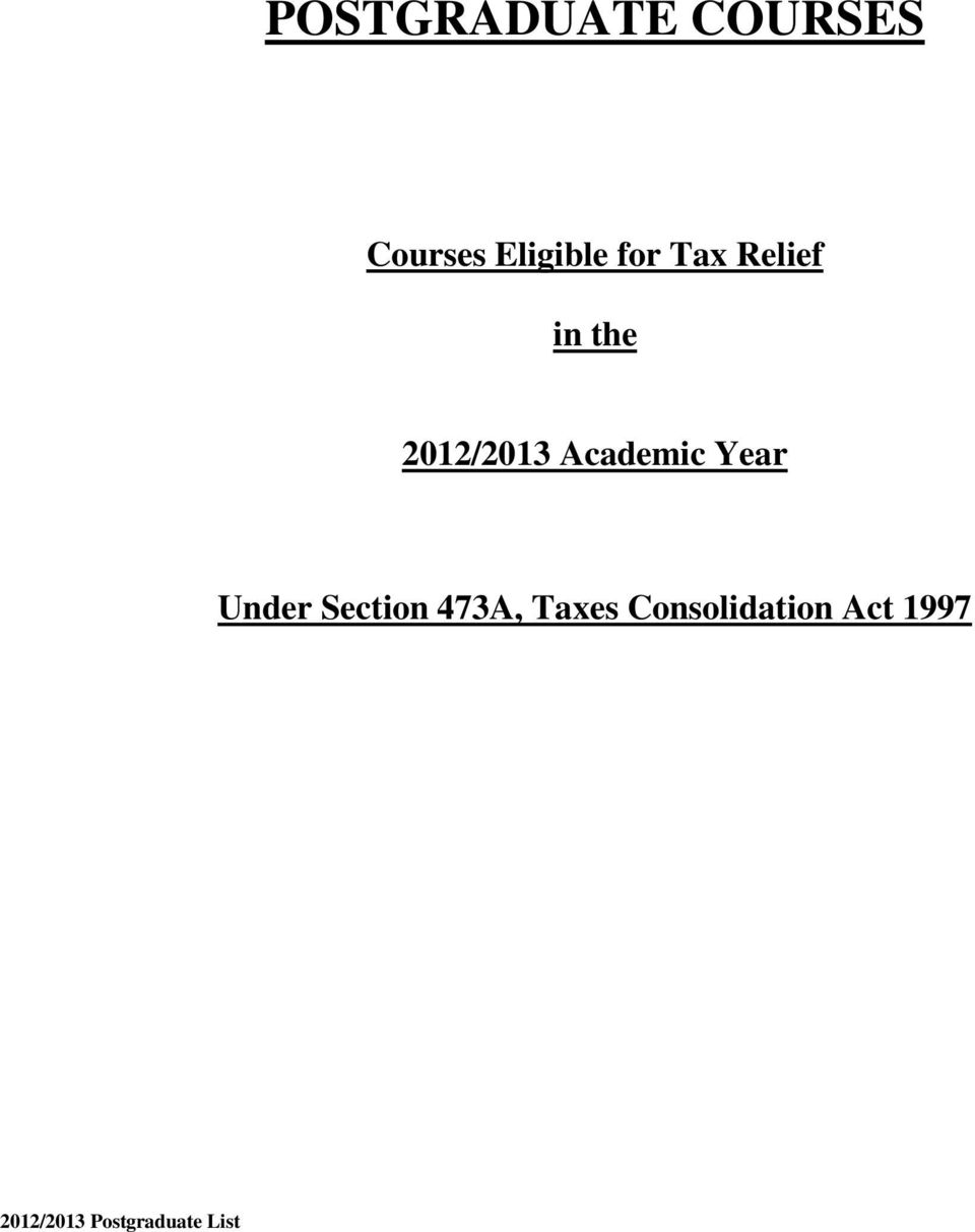 Academic Year Under Section 473A, Taxes