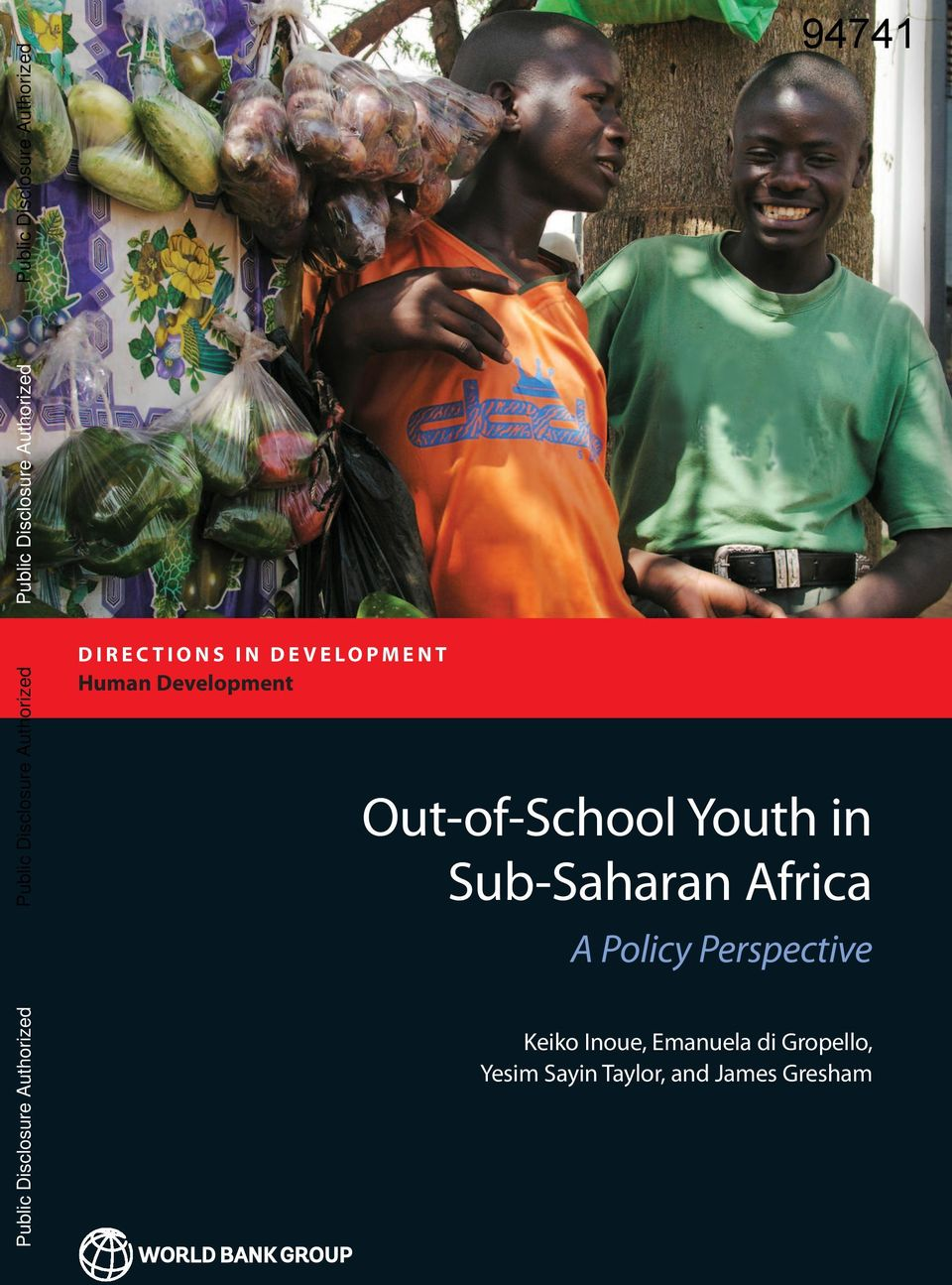 Out-of-School Youth in Sub-Saharan Africa Public Disclosure Authorized A