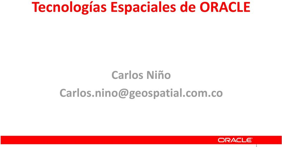 ORACLE Carlos Niño