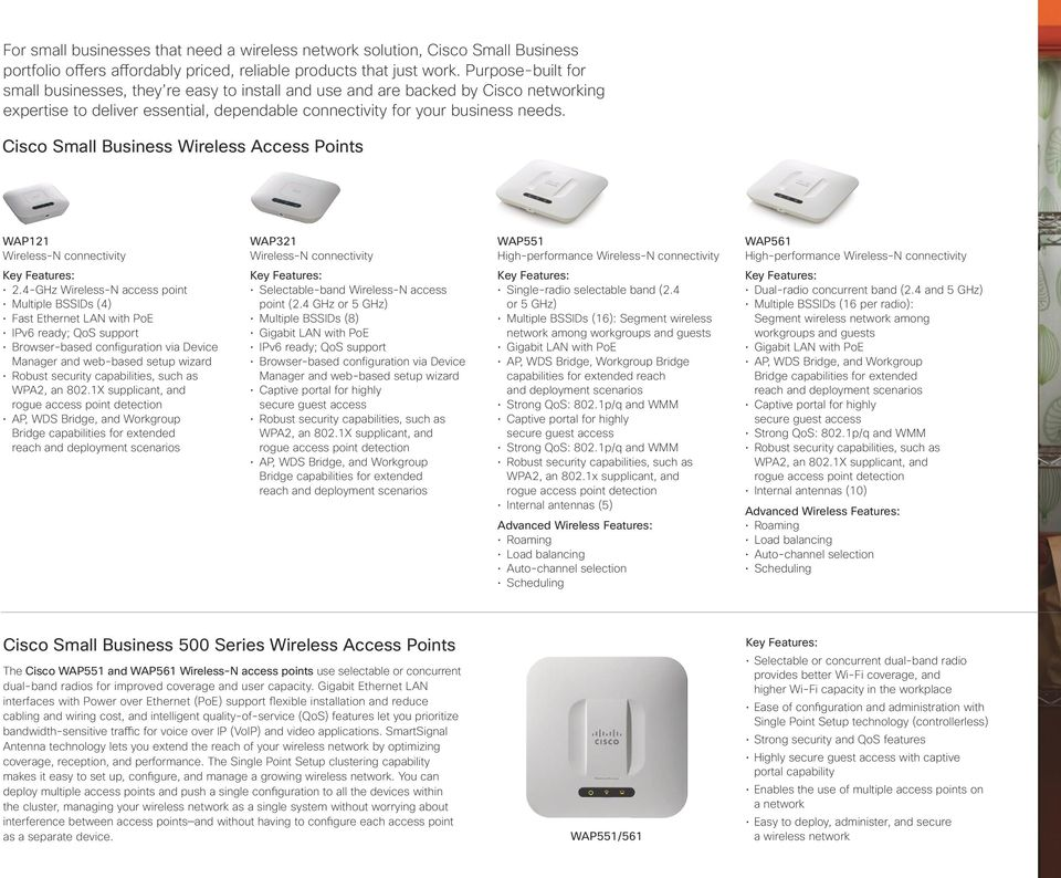 Cisco Small Business Wireless s WAP121 Wireless-N connectivity 2.