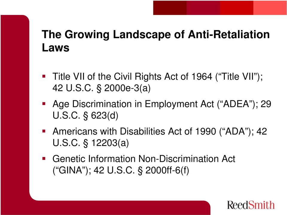 2000e-3(a) Age Discrimination in Employment Act ( ADEA ); 29 U.S.C.