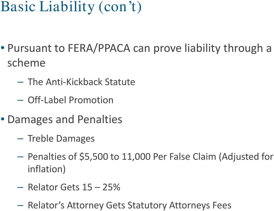 Treble Damages Penalties of $5,500 to 11,000 Per False Claim (Adjusted for