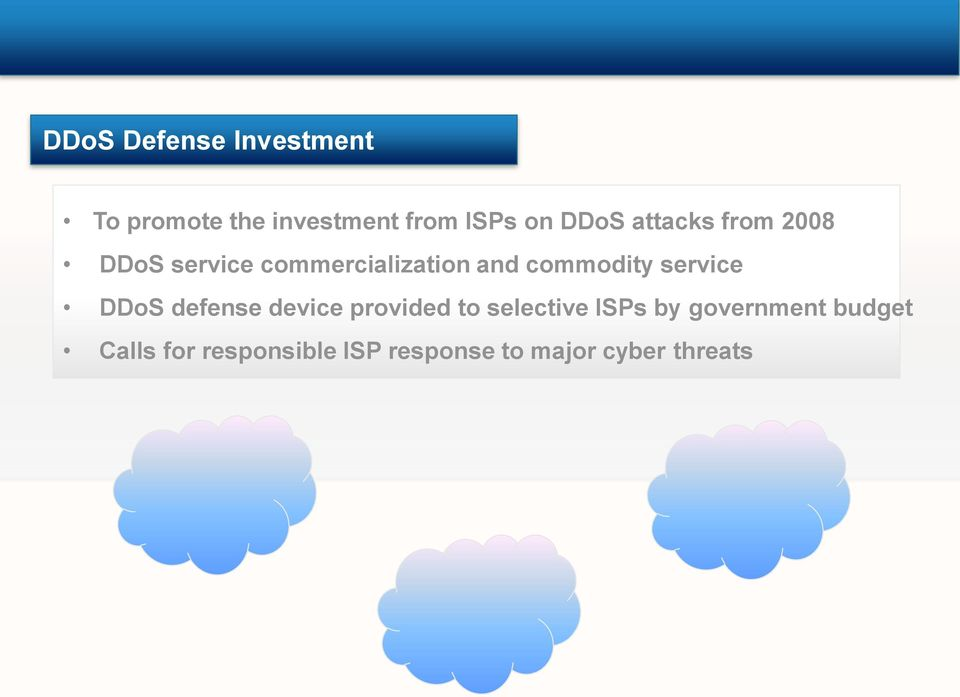 commercialization and commodity service DDoS defense device provided to selective