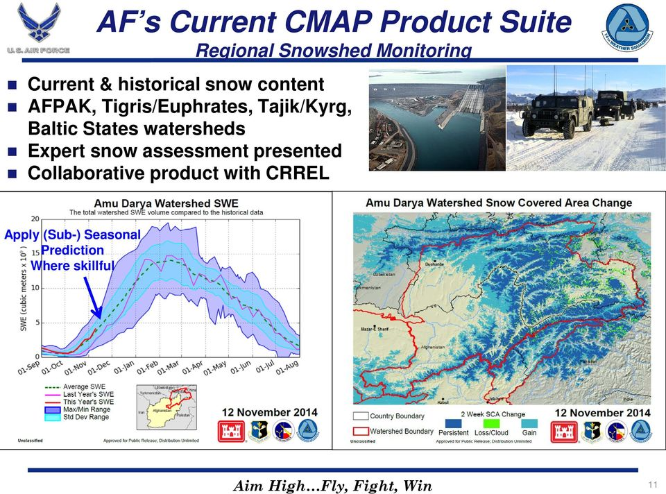 watersheds Expert snow assessment presented Collaborative product with