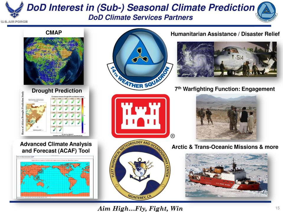7 th Warfighting Function: Engagement Advanced Climate Analysis and