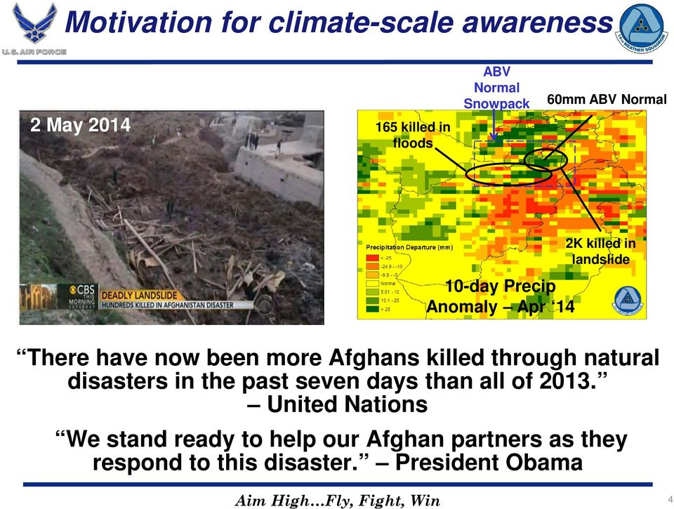 through natural disasters in the past seven days than all of 2013.