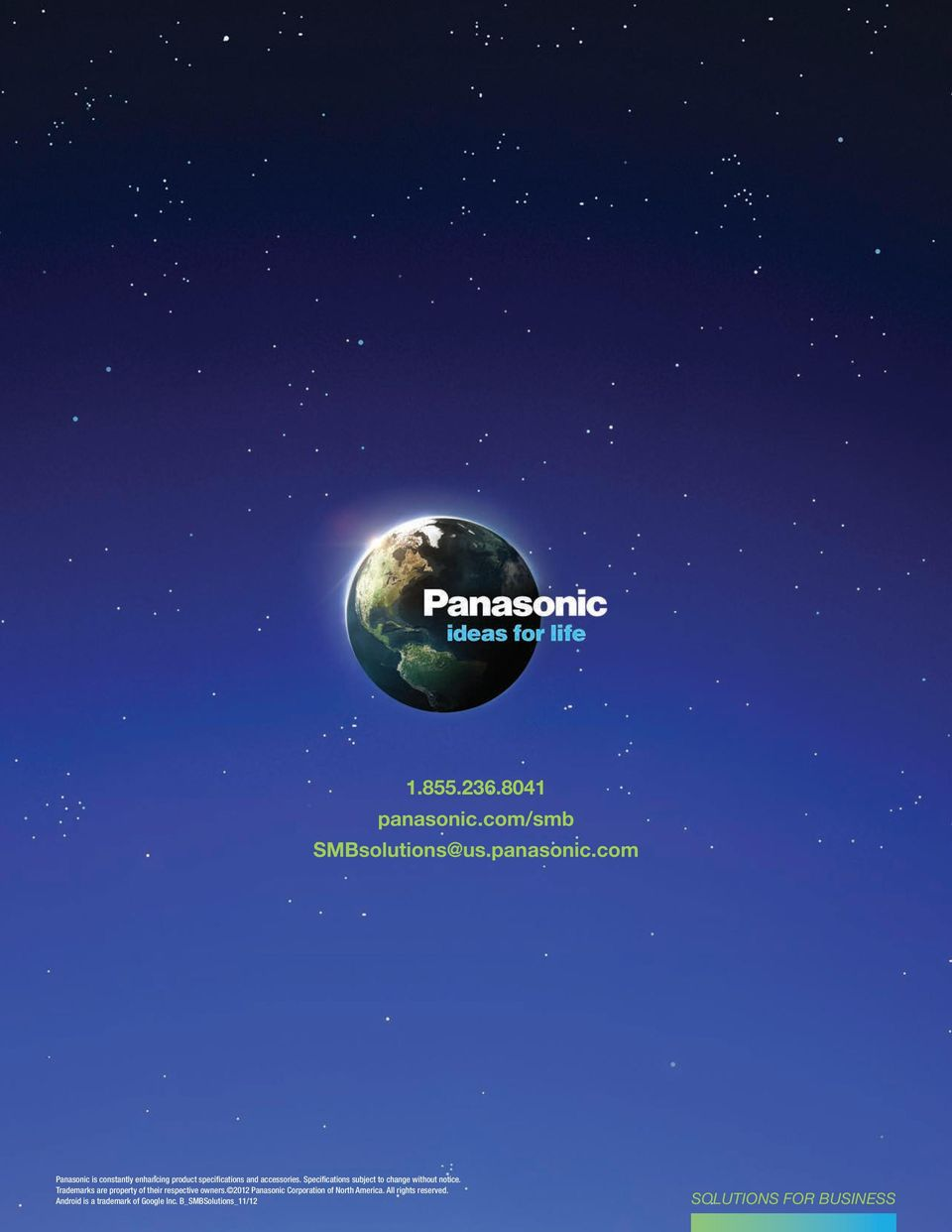 com Panasonic is constantly enhancing product specifications and accessories.