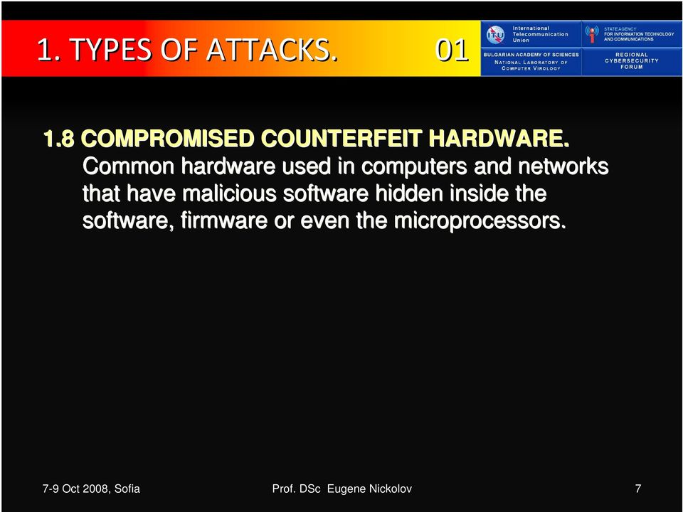 malicious software hidden inside the software, firmware or