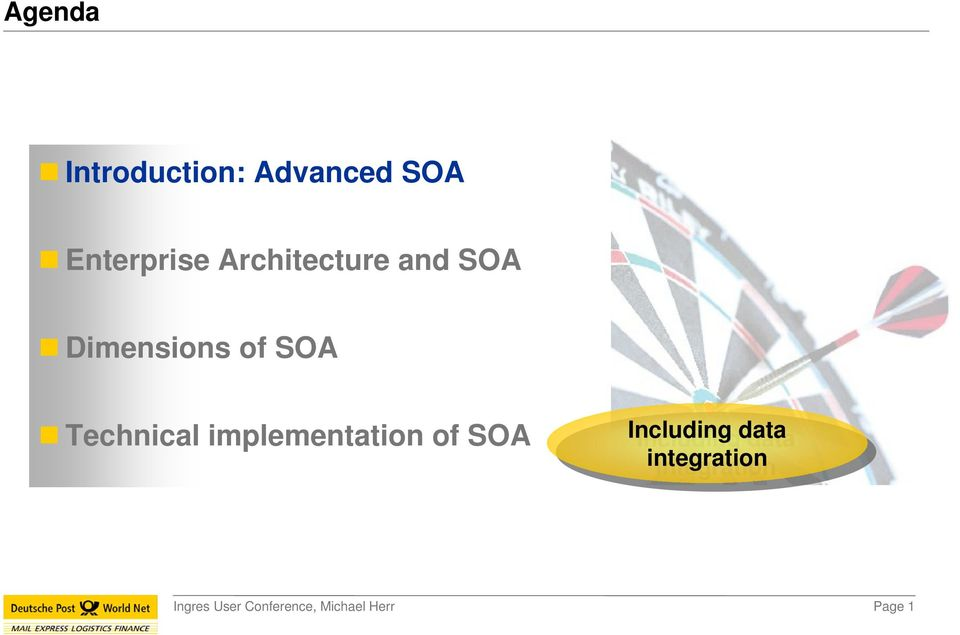 of SOA Technical implementation of SOA
