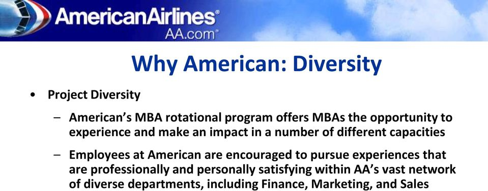 at American are encouraged to pursue experiences that are professionally and personally