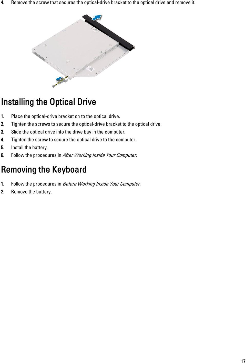 Dell Latitude 3440 Owners Manual Pdf Wire Puter Fan Wiring Diagram Also E6330 Slide The Optical Drive Into Bay In Computer 4 Tighten
