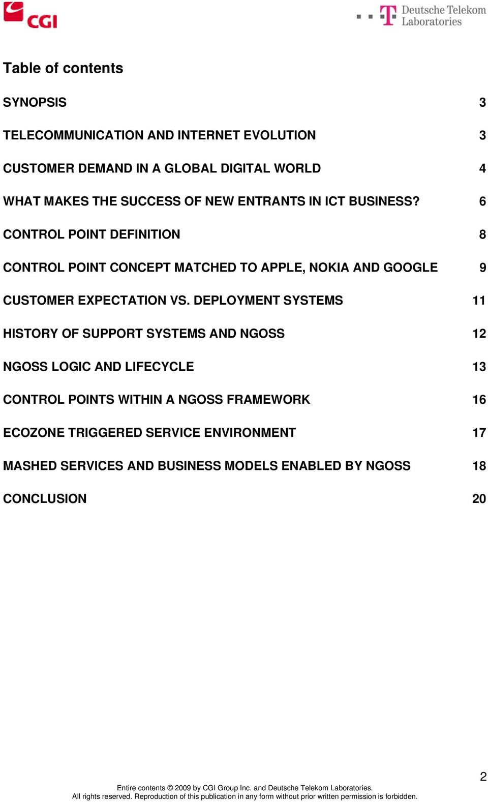 6 CONTROL POINT DEFINITION 8 CONTROL POINT CONCEPT MATCHED TO APPLE, NOKIA AND GOOGLE 9 CUSTOMER EXPECTATION VS.