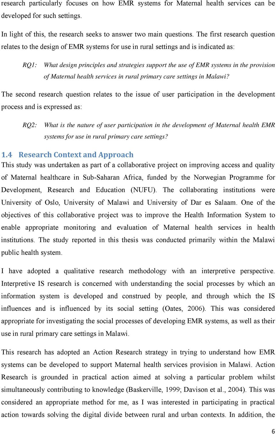 provision of Maternal health services in rural primary care settings in Malawi?