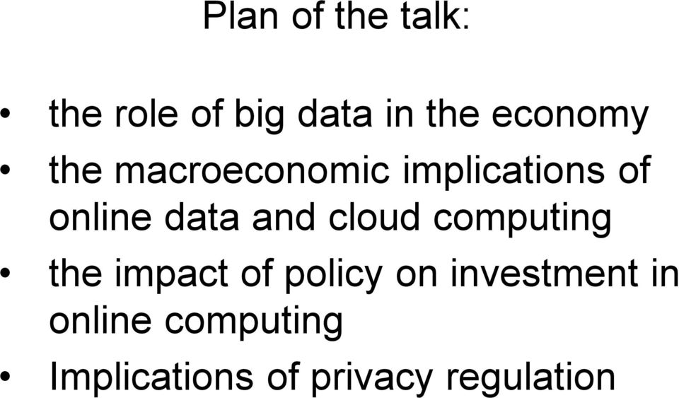 data and cloud computing the impact of policy on