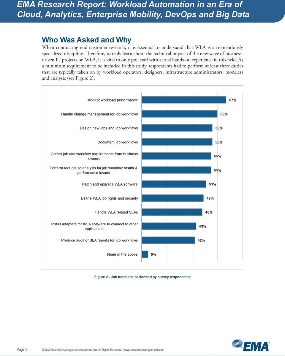 As a minimum requirement to be included in this study, respondents had to perform at least three duties that are typically taken on by workload operators, designers, infrastructure administrators,