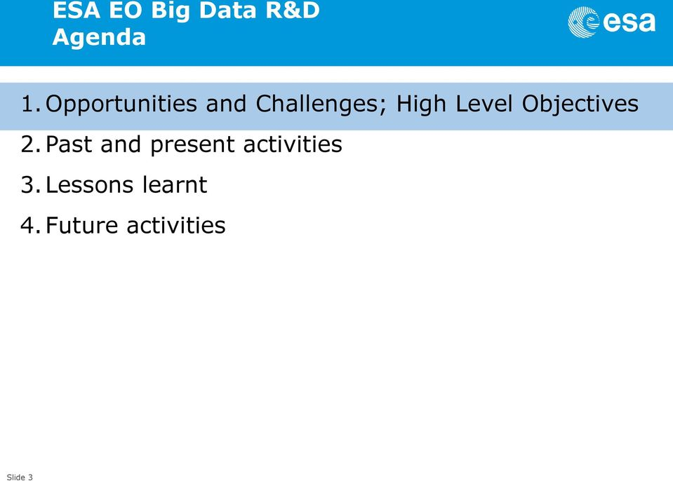 Level Objectives 2.