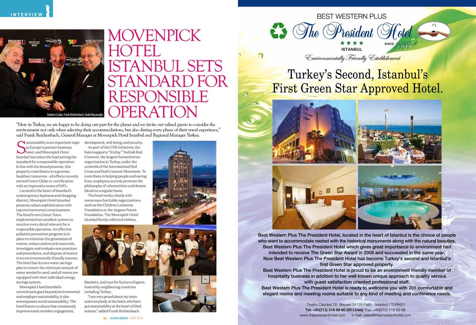 Movenpick Hotel Istanbul and Regional Manager Turkey.