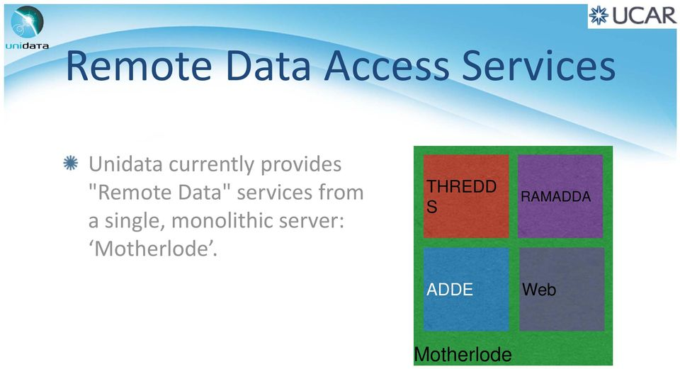 services from a single, monolithic