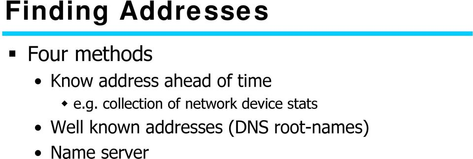 collection of network device stats